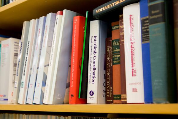 A bookshelf with books