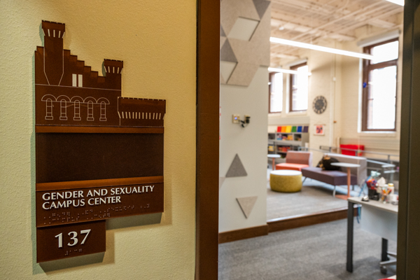 The new Gender and Sexuality Campus Center inside of the Red Gym is ready for students at the University of Wisconsin-Madison on October 12, 2020. (Photo by Bryce Richter / UW-Madison)